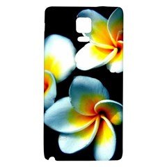 Flowers Black White Bunch Floral Galaxy Note 4 Back Case by Nexatart