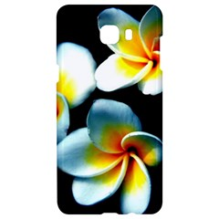 Flowers Black White Bunch Floral Samsung C9 Pro Hardshell Case  by Nexatart