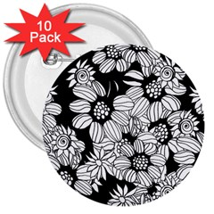 Mandala Calming Coloring Page 3  Buttons (10 Pack)  by Nexatart