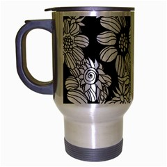 Mandala Calming Coloring Page Travel Mug (silver Gray) by Nexatart