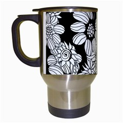 Mandala Calming Coloring Page Travel Mugs (white)