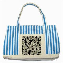 Mandala Calming Coloring Page Striped Blue Tote Bag