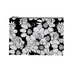 Mandala Calming Coloring Page Cosmetic Bag (large)