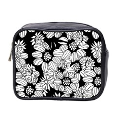 Mandala Calming Coloring Page Mini Toiletries Bag 2 Side by Nexatart