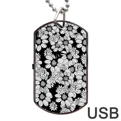 Mandala Calming Coloring Page Dog Tag Usb Flash (one Side) by Nexatart