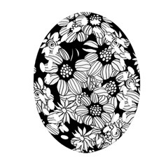 Mandala Calming Coloring Page Oval Filigree Ornament (two Sides) by Nexatart