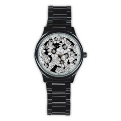 Mandala Calming Coloring Page Stainless Steel Round Watch
