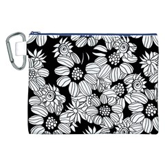 Mandala Calming Coloring Page Canvas Cosmetic Bag (xxl) by Nexatart