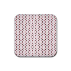 Motif Pattern Decor Backround Rubber Square Coaster (4 Pack)  by Nexatart