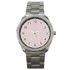 Motif Pattern Decor Backround Sport Metal Watch