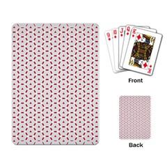 Motif Pattern Decor Backround Playing Card by Nexatart