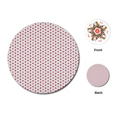 Motif Pattern Decor Backround Playing Cards (round)