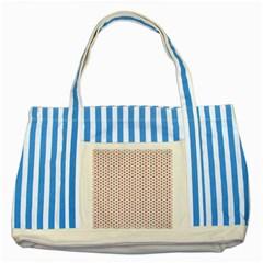 Motif Pattern Decor Backround Striped Blue Tote Bag by Nexatart