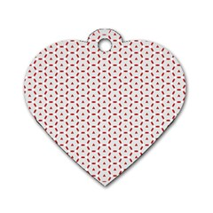Motif Pattern Decor Backround Dog Tag Heart (two Sides) by Nexatart