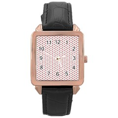 Motif Pattern Decor Backround Rose Gold Leather Watch