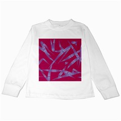 Background Vector Texture Pattern Kids Long Sleeve T Shirts