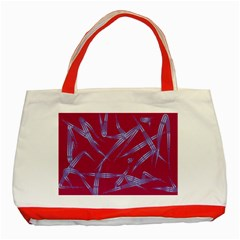 Background Vector Texture Pattern Classic Tote Bag (red) by Nexatart