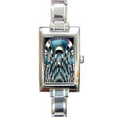 Abstract Art Design Texture Rectangle Italian Charm Watch