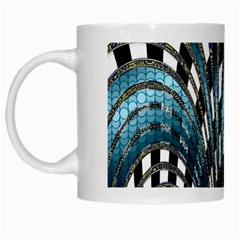 Abstract Art Design Texture White Mugs