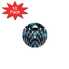 Abstract Art Design Texture 1  Mini Buttons (10 Pack)