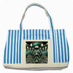 Abstract Art Design Texture Striped Blue Tote Bag