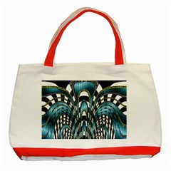 Abstract Art Design Texture Classic Tote Bag (red) by Nexatart