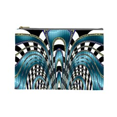 Abstract Art Design Texture Cosmetic Bag (large)