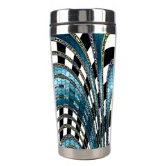 Abstract Art Design Texture Stainless Steel Travel Tumblers by Nexatart