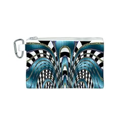 Abstract Art Design Texture Canvas Cosmetic Bag (s) by Nexatart