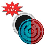 Vector Watch Texture Red Blue 1 75  Magnets (10 Pack)
