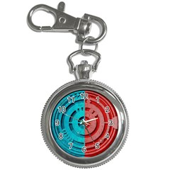 Vector Watch Texture Red Blue Key Chain Watches by Nexatart