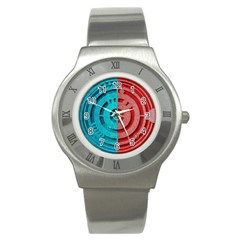 Vector Watch Texture Red Blue Stainless Steel Watch by Nexatart