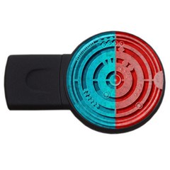 Vector Watch Texture Red Blue Usb Flash Drive Round (4 Gb)
