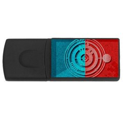 Vector Watch Texture Red Blue Usb Flash Drive Rectangular (4 Gb)
