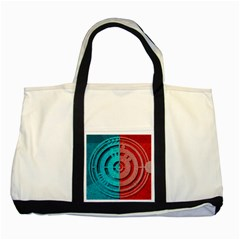 Vector Watch Texture Red Blue Two Tone Tote Bag by Nexatart