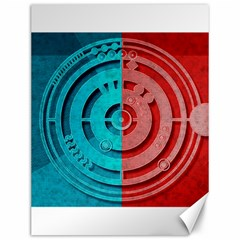 Vector Watch Texture Red Blue Canvas 12  X 16