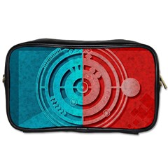 Vector Watch Texture Red Blue Toiletries Bags 2 Side by Nexatart