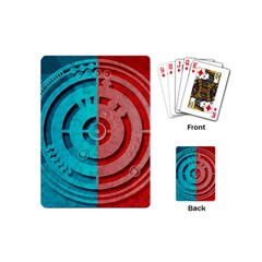 Vector Watch Texture Red Blue Playing Cards (mini)  by Nexatart