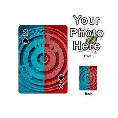 Vector Watch Texture Red Blue Playing Cards 54 (mini)