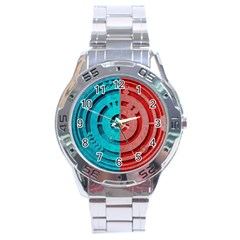 Vector Watch Texture Red Blue Stainless Steel Analogue Watch by Nexatart