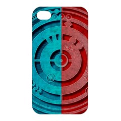 Vector Watch Texture Red Blue Apple Iphone 4/4s Hardshell Case by Nexatart