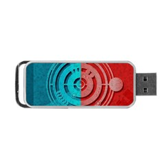 Vector Watch Texture Red Blue Portable Usb Flash (two Sides) by Nexatart