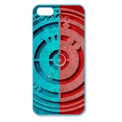 Vector Watch Texture Red Blue Apple Seamless Iphone 5 Case (color)