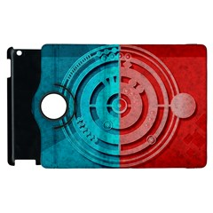 Vector Watch Texture Red Blue Apple Ipad 2 Flip 360 Case by Nexatart