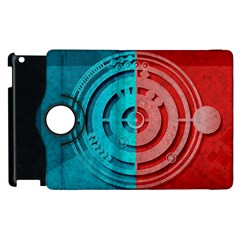 Vector Watch Texture Red Blue Apple Ipad 3/4 Flip 360 Case by Nexatart