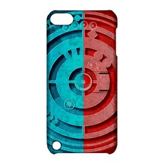 Vector Watch Texture Red Blue Apple Ipod Touch 5 Hardshell Case With Stand