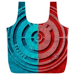 Vector Watch Texture Red Blue Full Print Recycle Bags (l)