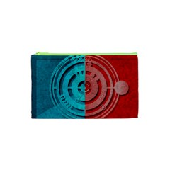 Vector Watch Texture Red Blue Cosmetic Bag (xs) by Nexatart