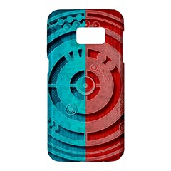 Vector Watch Texture Red Blue Samsung Galaxy S7 Hardshell Case