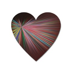 Pattern Flower Background Wallpaper Heart Magnet by Nexatart
